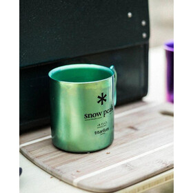 Snow Peak Titanium Single-Wall Cup 450ml green